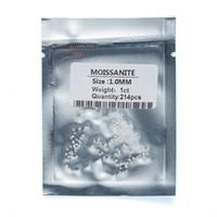 Wholesale 1.0 мм до 2,9 мм Вес на пакет 1 карат Моисанит Свободный камень D Цветовой круглый вырезать маленький лабораторный алмазный положительный тест