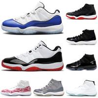 nike air jordan 11 New White Bred Jumpman 11s des femmes des hommes Chaussures de basket Concord 11 bleu rétro rose Snakeskin chapeau et robe Cool Gray Taille 13 Formateurs
