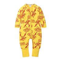 Spring Automne Baby Romper Mignon Dessin animé Garçon Imprimé Garçon Jumpers bébé nouveau-né Jumpsuit à manches longues de coton costume de coton neuf E21901