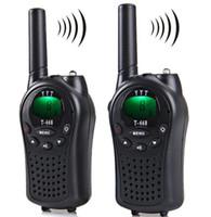 T-668 Pantalla LCD de Walkie Talkie profesional de 8 canales Rango de 5 km Twintalker PMR Escáner automático con clip de cinturón Linterna de llamada LLFA