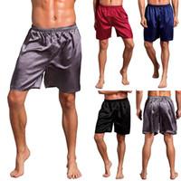 Plus Size Mens Casual Pyjamas Shorts Vêtements de Nuit Loungewear Pyjama Sous-Vêtements Dormir Bas Rouge / Bleu / Noir / Gris
