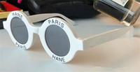 ترف -01945 جولة خطابات النظارات الشمسية إطار صغير أعلى جودة أفانت غارد أحد الزجاج الشعبية نمط UV400 حماية مصمم الأزياء النظارات