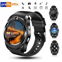 V8 Smart Watch Bluetooth-Uhren mit 0.3M Kamera SIM IPS HD Full Circle Anzeige Smartwatch für Android-System mit Box