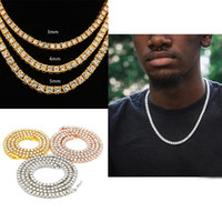 Mens Hip Hop Bling Chains Jewelry Sterling Silver 1 Row Diam...