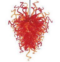 Sala Mão decorativa vidro fundido Chandelier Dale Chihuly estilo europeu Fonte de Luz LED Hanging Art Pendant lâmpadas de vidro