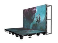 قاعة الرقص بقيادة تحت الارض شاشة P4.81 500 * 500MM تأجير أدى العرض الخاص المرحلة شاشة LED