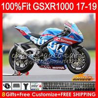 Впрыск Для SUZUKI GSX R1000 GSX-R1000 GSXR 1000 17 18 19 17HC.2 L7 L8 GSXR-1000 K17 GSXR1000 2017 2018 2019 Комплект обтекателя заводской синий новый