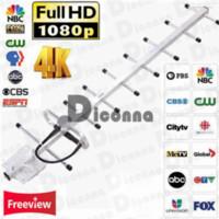 200Miles Открытый Усиленный HDTV 1080P Антенна Long Range 38dB UHF / VHF / FM ротатор 30A14
