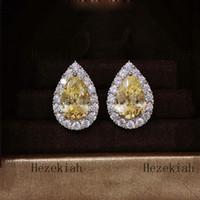 Hezekiah S925 Sterling Silber Wassertröpfchen Ohrringe hohe Qualität aristokratisches Temperament Damen Ohrringe Prom Partei Ohrringe