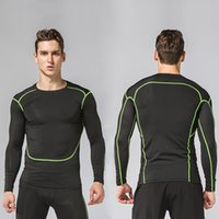 2019 HAMEK Men Running Compression Long Sleeves Sport Runnin...