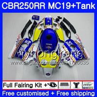 Molde de inyección Rothmans Blue nuevo Body + Tank para HONDA CBR 250RR 250R CBR250RR 88 89 261HM.14 CBR 250 RR MC19 CBR250 RR 1988 1989 Kit de carenados