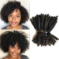 Funmi Bouncy Curly trama Festival trama do cabelo não processado Virgin brasileiro do cabelo humano tece indiana da Malásia 3Bundles Afro Kinky cabelo encaracolado