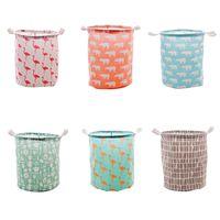 Klapp Wäschekorb Flamingo Gedruckt Home Storage Barrel Stehen Spielzeug Kleidung Aufbewahrungseimer Wäsche Veranstalter Halter Beutel