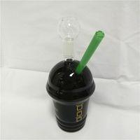 2019 Starbucks Bongs Pipes d'eau en verre barboteur 18mm joint noir Starbuck Coupes narguilés Smoking Rig Shisha Dab huile