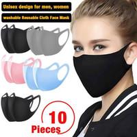 Waschbare Tuch-Gesichtsmaske PM2.5 Erwachsene Wiederverwendbare Anti-Staub-windundurchlässiger Sonnenschutz Mundmaske Kinder Kind-Breathable Ice Silk Cotton Masken