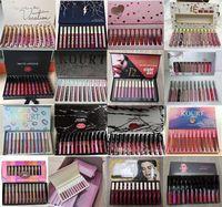 최신 메이크업 (12 개) 패션 색상 매트 립스틱 립글로스 세트 12PCS / 1 세트 고품질 DHL 무료 배송