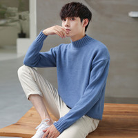 Men's Sweaters Men Sweater High Quality Turtleneck Slim Fit Pullover Man Classic Wool Knitwear Solid Warm Mens