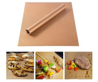 33 * 40CM Heat Resistant BBQ Grill Mat Kupfer Bakeware Mat Grill Roast Blatt Tragbare Easy Clean Grill Pad BBQ-Werkzeug
