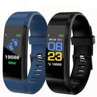 115 Plus-Smart-Armband Fitness Tracker Samsung Smart Uhr Herzfrequenz-Armband Smart-Armband für Apple Android Handys mit Box