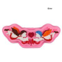 DIY Melek Cupid Kek Kalıp Eros Pişirme Kalıp Kalp Aşk Çikolata Kalıp Doğum Sevgililer Günü Düğün Aşk Ebedi Pişirme Kalıp