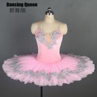 11 Größen! Rosa Samt 7 Arten von Trim Ballett-Tutu Frauen Mädchen Pancake tutus professioneller Ballettkostüme für Ballerina Bll108