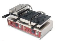 Máquina eléctrica Taiyaki, la boca abierta máquina de gofres peces, Forma helado pescado galleta del panadero / boca abierta Fish Wafflera