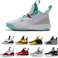 Hohe Qualität neue 33 XXXIII Basketball-Schuhe schwarz Sport Mann weiße untere Sneaker Trainingsschuhe neue Verkauf