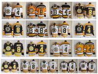 빈티지 보스턴 Bruins 저지 4 바비 오어 8 캠 Neely 블랙 화이트 옐로우 CCM 레트로 하키 유니폼 크기 48-56
