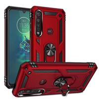 Für Motorola G Power Play Stylus 2021 Stoßfeste Telefonkoffer auf Moto E7 Ein 5G ACE G9 G8 plus Fusion E6s Ringständer Stoßfängerabdeckung