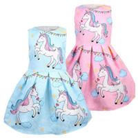Bebek Elbiseler Yaz Sevimli Unicorn Zarif Elbise Çocuklar Parti Noel Kostümleri Çocuk Giyim Prenses Lol Kızlar Elbise