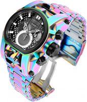 Модель 25212 - непобедимые непобедимые мужские часы Швейцарский кварцевый резервный болт Zeus Men 5040.D 1042 52 мм Многоцветная нержавеющая сталь Двойной часовой пояс