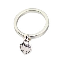 New Authentic 925 Sterling Silver Ring Heart- shaped Padlock ...