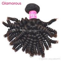Glamouröse brasilianische lockige jungfräuliche Haare Gewebe 1 Stück Menschliche Haarverlängerung Fabrik Direct Malayain Peruanische indische Spirale lockige Haarfüke