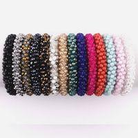 Boho Élastique Bracelets Bracelets Pour Femmes Vintage Stretch Bohemian Femme Cristal De Verre Perles Bracelets Partie Bijoux