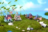 Hthom البسيطة الحرفية مصغرة الجنية حديقة المنزل الديكور المنازل الصغيرة المناظر الطبيعية ديكور diy الملحقات