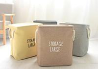 Rechteck Baumwolle Wäschekorb mit Seilgriffen Wasserdichte Faltbare Leinwand Wäschekorb Zusammenklappbaren Ablagekorb Schmutzige Wäschekorb