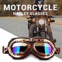 Roaopp الرجعية دراجة نارية نظارات نظارات خمر موتو نظارات كلاسيكية ل هارلي الطيار steampunk atv دراجة النحاس خوذة