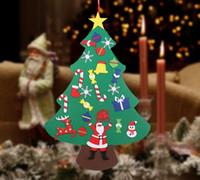 ورأى الجديد للحفلات DIY شجرة عيد الميلاد هدايا السنة الجديدة لعب الاطفال الاصطناعي شجرة الجدار شنقا الحلي عيد الميلاد الديكور