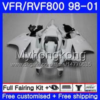 Lichaam voor Honda Interceptor Gloss Wit Nieuwe VFR800R VFR800RR 98 99 00 01 259HM.17 VFR800 VFR 800RR VFR 800 rR 1998 1999 2000 2001 Fairing Kit