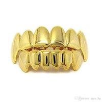 هالوين الذهب الفضة الأسنان GRILLZ 6 الأعلى هوب هوب أسفل مغني الراب مجوهرات الأسنان كاذبة مجموعة مصاص الدماء GRILLZ بيئيا لوحة معدنية ودية