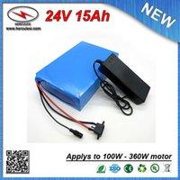 PVC de haute qualité Cased 350W vélo électrique batterie 24V 15Ah construit en 2200mah 18650 cellule 15A BMS + 2A Chargeur LIVRAISON GRATUITE