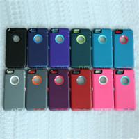 TPU capa para iPhone6 6s 6plus impermeáveis Cases Moda Celular PC de silicone capa de protecção