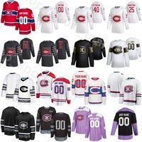 2020 Custom Ice Hockey Montreal Canadiens 21 Nick Cousins Jerseys 15 Jesperi Kotkaniemi 53 Victor Mete 44 Nate Thompson 100th Anniversary