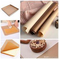 Backofen Öl Papier Antihaft Hochtemperaturbeständige Gewebetuch 40x60 cm 10 teile / satz Gebäck Backen Oilpaper Matte Oilcloth