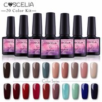 COSCELIA 20pcs UV Gel Nail Polish Kit Nail Art Tips 40 Color...