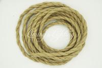 Freeshipping 100m / lot de câble corde fil torsadé Vintage Rétro bricolage Tressé fil électrique Suspension fil Vintage lampe de cordon