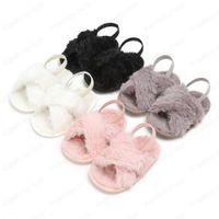 아기 양털 신발 유아 가짜 모피 첫 번째 워커 신발 패션 소프트 바닥 유아 봉제면 신발 4 색