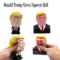 Donald Trump Stress-Squeeze-Ball Jumbo Squishy Spielzeug kühler Neuheit Druck ReliefKids Puppe Dekor Squeeze Spaß-Witz-Requisiten Neuheit-Geschenk LJJ_A1349