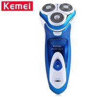 Kemei KM-5880 recargable Triple Cuchilla de afeitar eléctrica lavable de afeitar hombres de la cara barba Trimmer 3D flotante máquina de afeitar de la maquinilla de afeitar