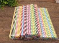 Hot 230mm en plastique réutilisable Pailles Fit couleur en plastique dur rayé pour Straws 20 onces 30 onces tasse Mason Jar DX5G